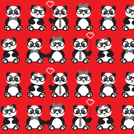 In Love With Geek Chic fabric by jenniferfranklin on Spoonflower - custom fabric