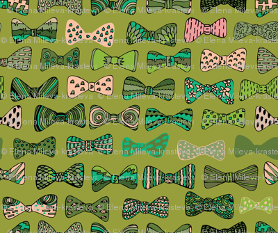 Bow ties in green