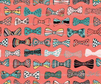 Bow tie geek in pink