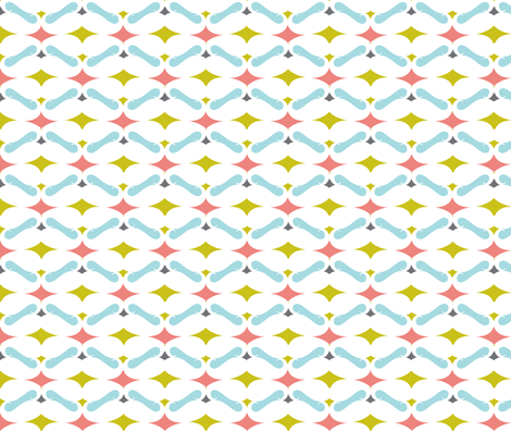 mustache diamond pattern fabric by katarina on Spoonflower - custom fabric