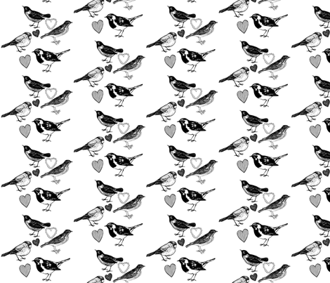Birdee Love fabric by adamwest on Spoonflower - custom fabric