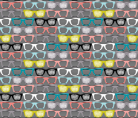 colorful glasses on stripes
