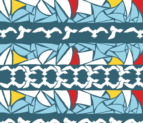 Seagulls_and_sails fabric by kirsten_miller on Spoonflower - custom fabric