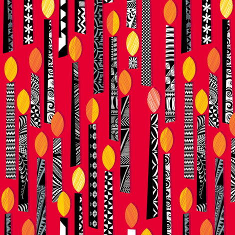 Flaming Red Wrap fabric by spellstone on Spoonflower - custom fabric
