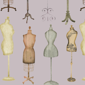 Distressed Victorian Dress Forms