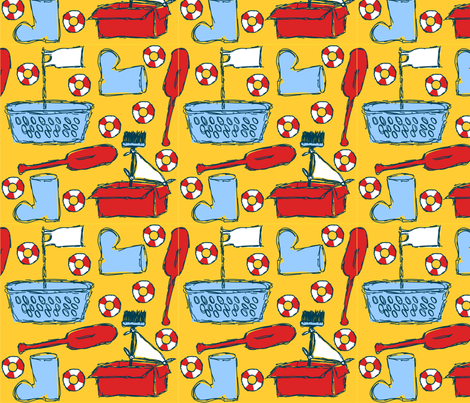 childrens_sail_boat fabric by renateandtheanthouse on Spoonflower - custom fabric