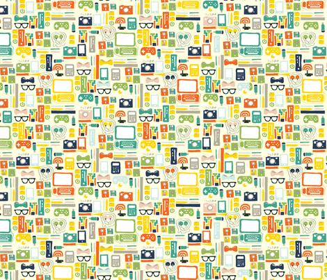 geekchic fabric by nat_olly on Spoonflower - custom fabric