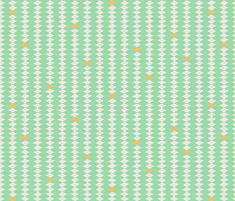 Geeky Argyle Mint fabric by zesti on Spoonflower - custom fabric