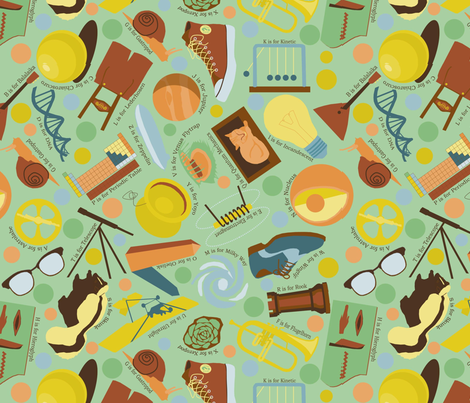 geek_alphabet fabric by roxiespeople on Spoonflower - custom fabric