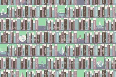 Geeky Bookshelf Mint