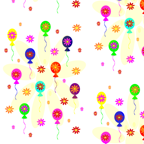 Happy Balloons! fabric by mussaratrahman on Spoonflower - custom fabric