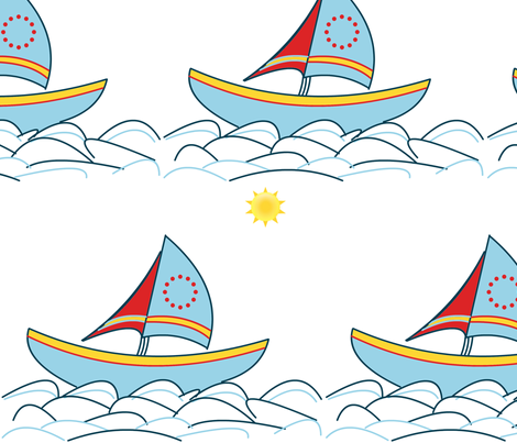sailboat fabric by alchemy_art on Spoonflower - custom fabric