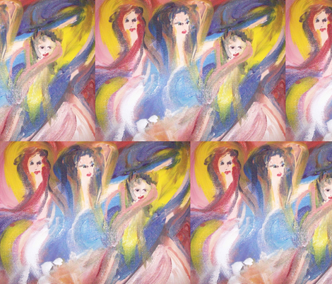 sleepy dancers fabric by myartself on Spoonflower - custom fabric