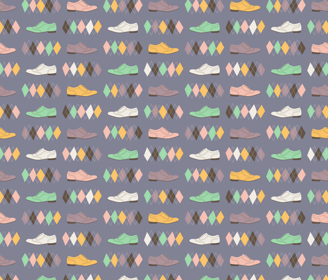Geek Chic Shoes fabric by zesti on Spoonflower - custom fabric