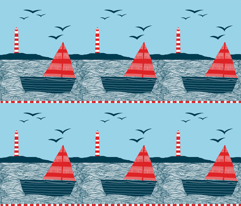 Days Spent Sailing fabric by mavis_makes on Spoonflower - custom fabric