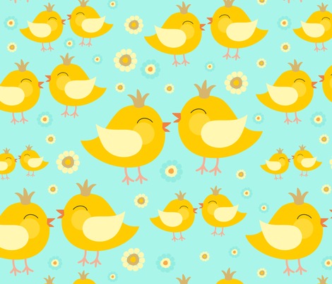 Chicken in love fabric by dariara on Spoonflower - custom fabric