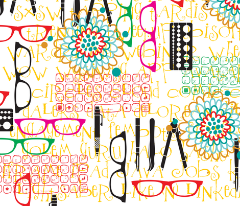 UBER CHIC GEEK fabric by deeniespoonflower on Spoonflower - custom fabric
