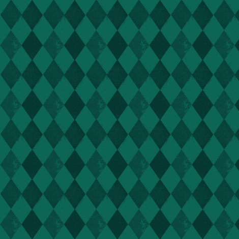 Green Harlequin Diamond fabric by bohobear on Spoonflower - custom fabric