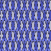 Diamond pattern in blue