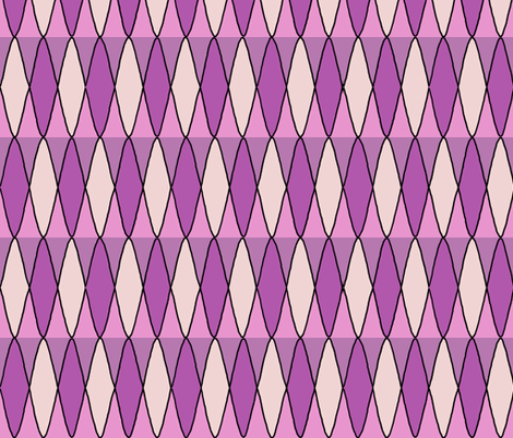 Diamond pattern in pink purple fabric by martaharvey on Spoonflower - custom fabric