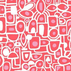 Pink and Red Lichen