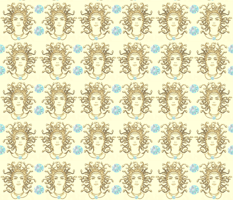 MEDUSA'S GEMS fabric by bluevelvet on Spoonflower - custom fabric