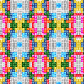 Tetris tiles mosaic