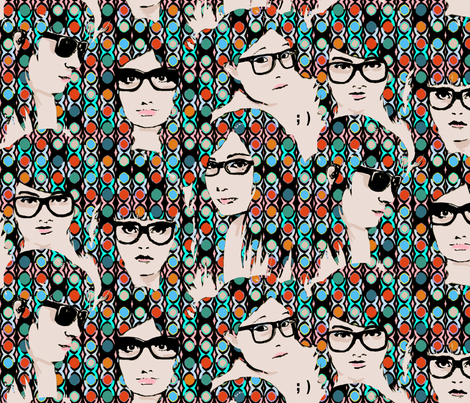 chic_geeks fabric by spacecowgirl on Spoonflower - custom fabric