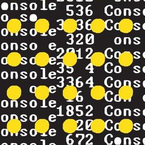 Unicode yellow on black