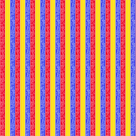 Binary Strips red,blue,yellow fabric by sydama on Spoonflower - custom fabric