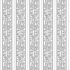 Binary strips black and white