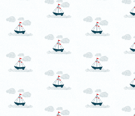 Come_Sail_Away fabric by christinecorine on Spoonflower - custom fabric