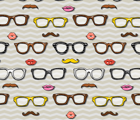 Mr. & Ms. Geek Chic fabric by katrinazerilli on Spoonflower - custom fabric