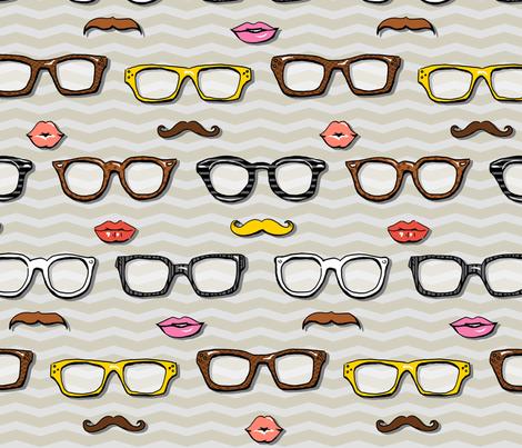 Mr. & Ms. Geek Chic fabric by katrinazerilli on Spoonflower - custom fabric