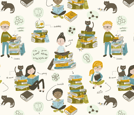 little_chic_geeks fabric by stacyiesthsu on Spoonflower - custom fabric