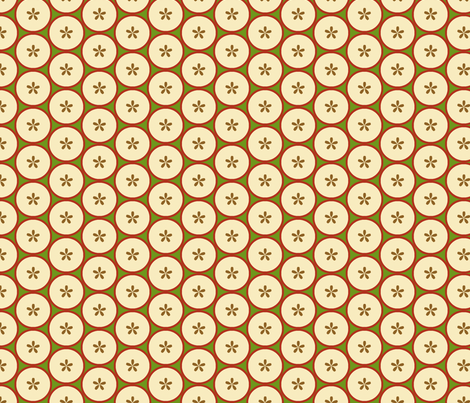 Sliced_Apples_1 fabric by fireflower on Spoonflower - custom fabric