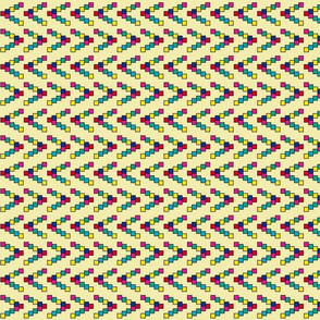 Less than Greater than stripes - yellow