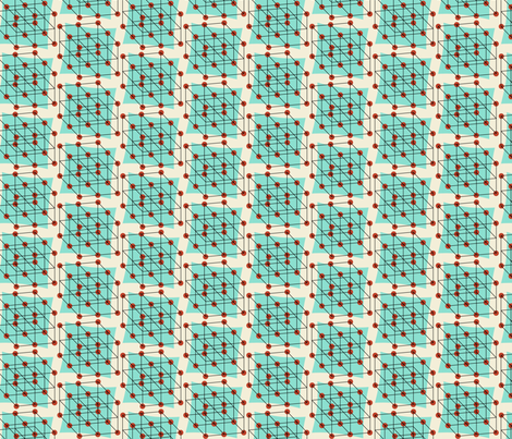 cubic crystal atom structure fabric by darcibeth on Spoonflower - custom fabric