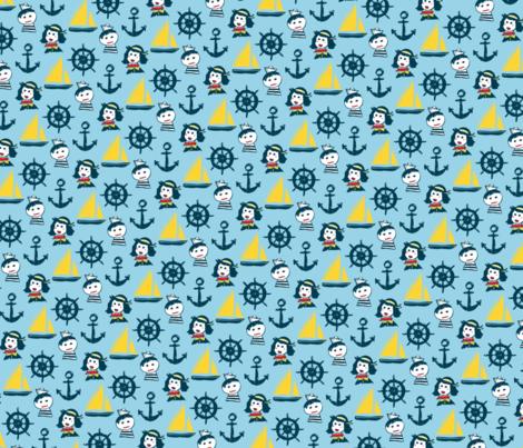 He Gets Seasick fabric by zaharamh on Spoonflower - custom fabric