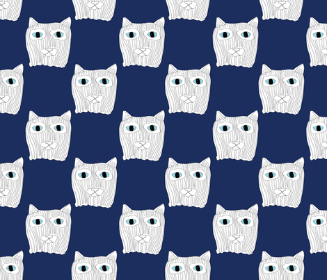 ninja cat fabric by chewytulip on Spoonflower - custom fabric