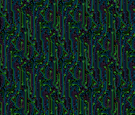 CircuitBoard_Blk150 fabric by mjmontana on Spoonflower - custom fabric