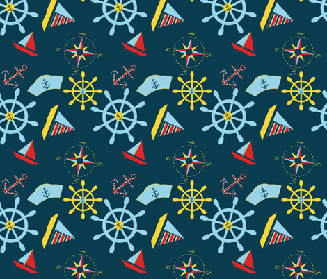 Come Sail Away fabric by juliapaigedesigns on Spoonflower - custom fabric