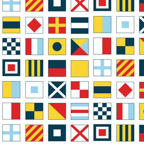Sailing Flags fabric by pixeldust on Spoonflower - custom fabric