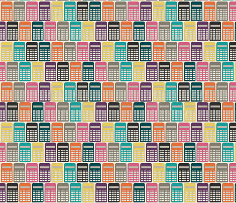 Calculators fabric by meg56003 on Spoonflower - custom fabric