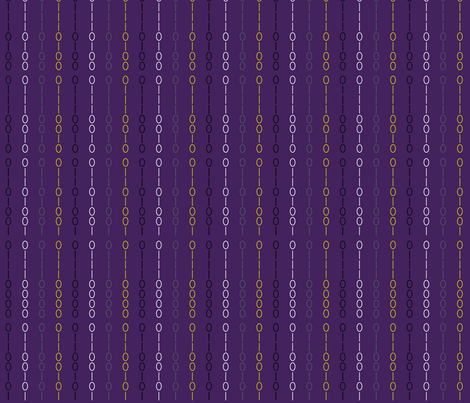 Binary Stripe Purple fabric by modgeek on Spoonflower - custom fabric