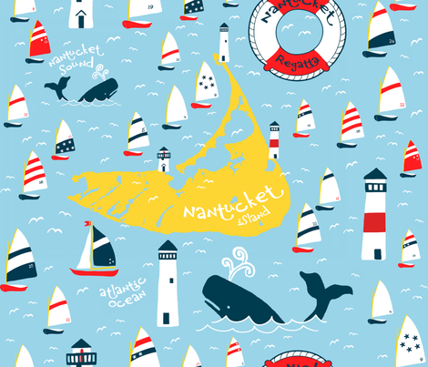 Nantucket Regatta fabric by pattyryboltdesigns on Spoonflower - custom fabric