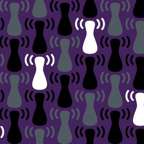 Wireless Network Zigzag Purple