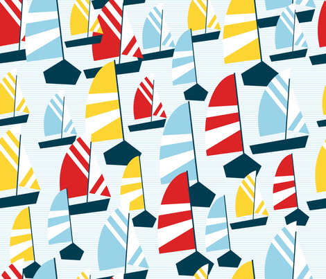 sailboat regatta fabric by babysisterrae on Spoonflower - custom fabric