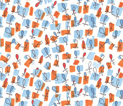 Funky Me © Morenz Studio fabric by bigsister on Spoonflower - custom fabric