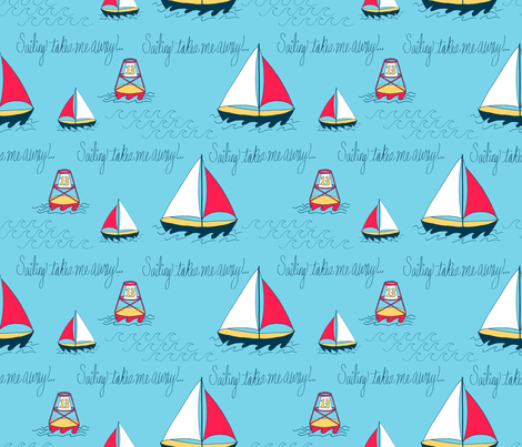 Sailing takes me away  fabric by empireruhl on Spoonflower - custom fabric